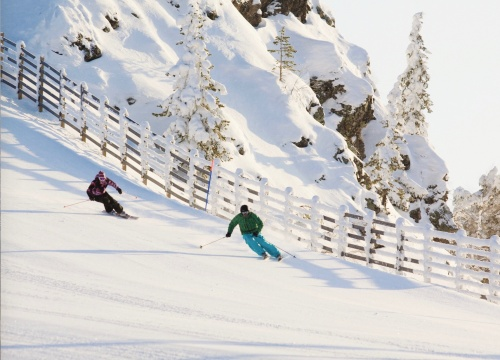 One of the steeper slopes in Ruka, near the Arctic Circle